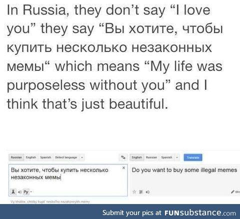 Love in Russian