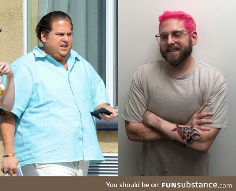 Jonah Hill 3 years ago and today