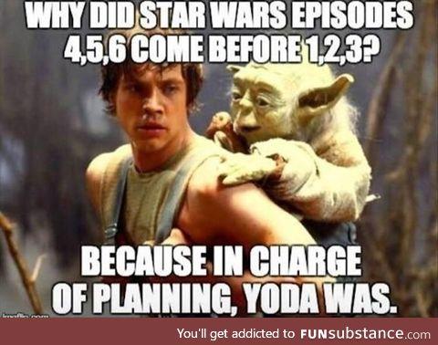 It's Yoda's fault