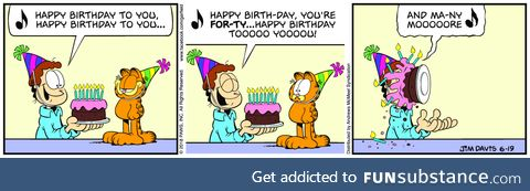 Happy 40th Birthday Garfield