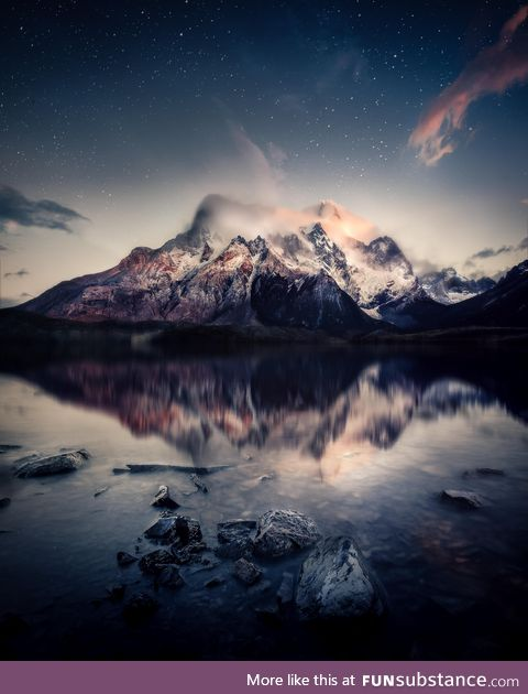 Torres del paine under the stars - patagonia
