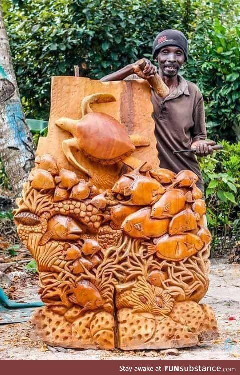 No machine, just one man using his hands and tool (by Abasiki Bebunda)