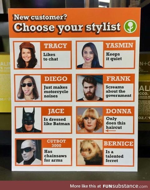 Choose your stylist