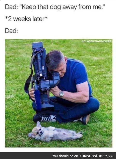 Dad loves dog