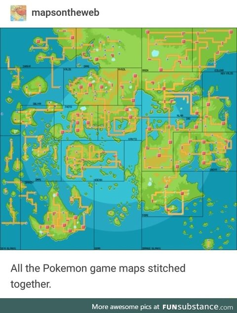 All the Pokemon maps combined