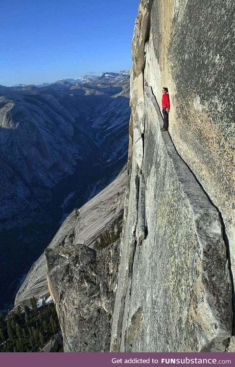 "The ""Thank God Ledge"" in Yosemite National Park"