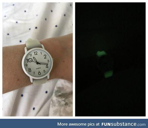 Got a glow in the dark watch!