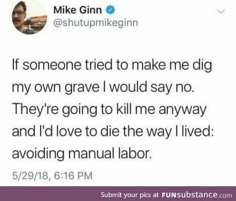 Nice way to go