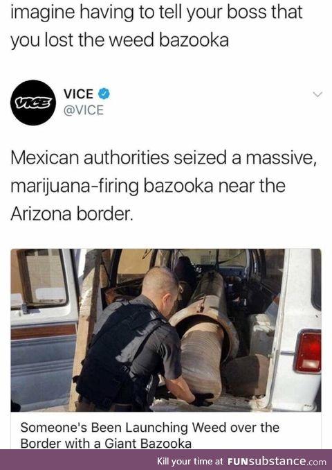 Weed bazooka
