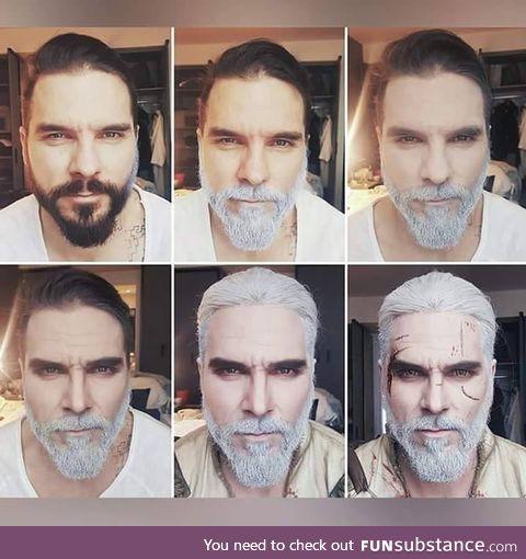 Transformation into Geralt