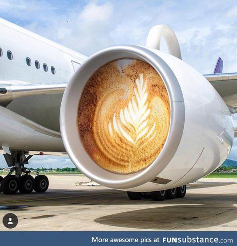 It generates a latte thrust