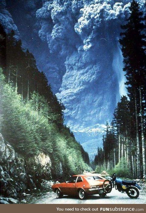 Mount St. Helens Eruption in 1980