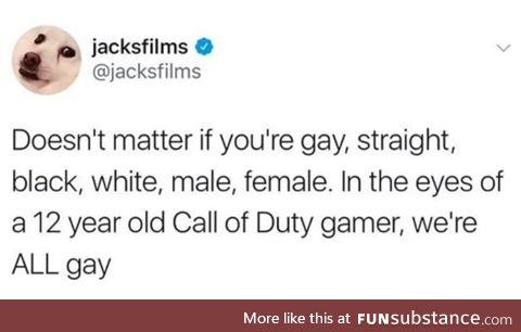 Ur all gay
