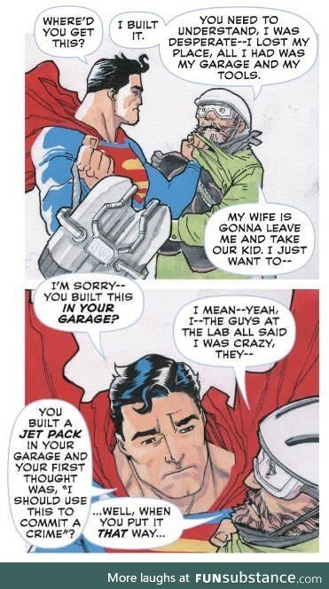 Supes does have a point
