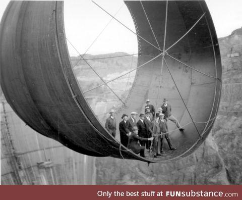 Hoover Dam turbine construction, 1933-1935