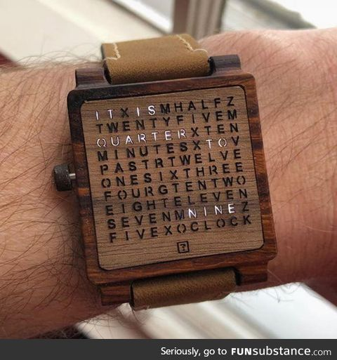 This wooden watch