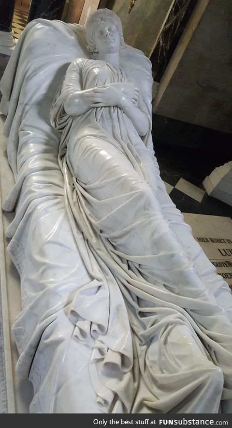 The detail on this marble statue