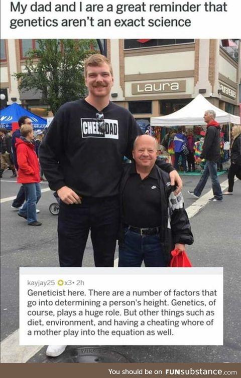"Genetics ""doesn't"" matter"
