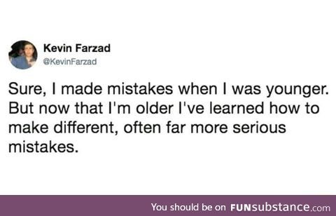 Learn how to make more mistakes