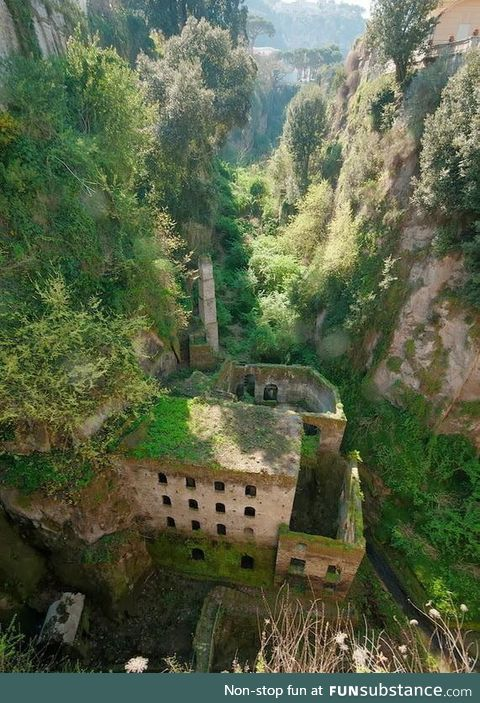 An abandoned mill in Sorento, Italy