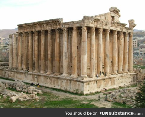 A largely intact Roman temple in Lebanon