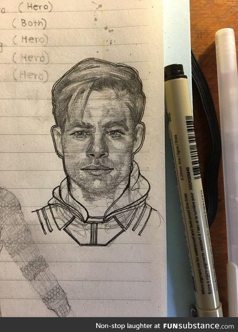 Chris pine sketch