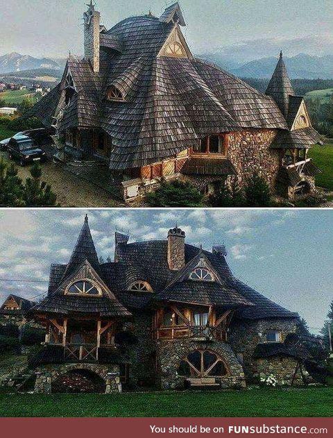 Just a wooden house in Zakopane, Poland