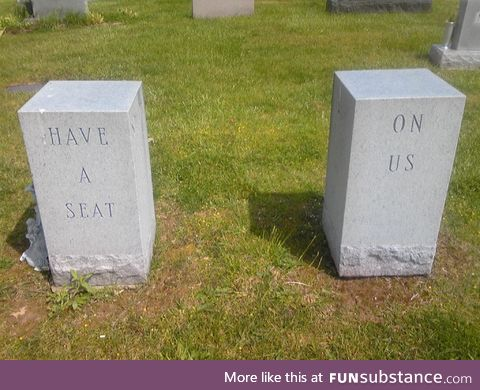 This couple had a grave sense of humour