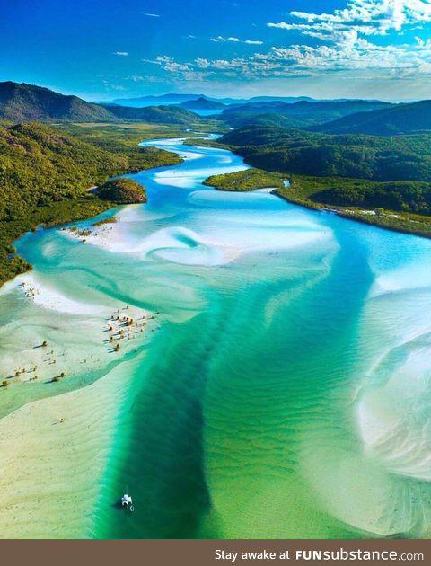 Whitehaven beach queensland, australia