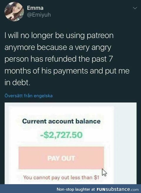 Gone into debt