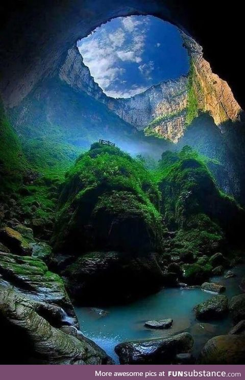 The biggest sinkhole in China