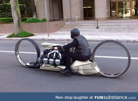 Futuristic Hubless motorcycle