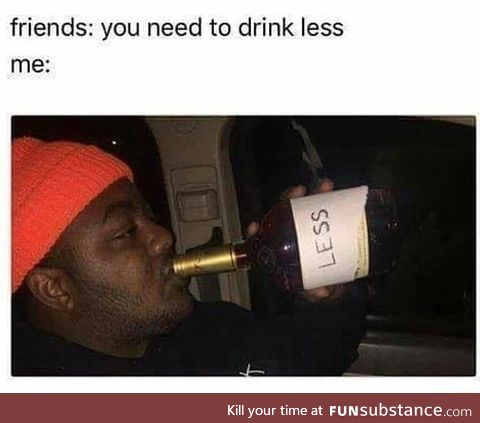 Drinking less