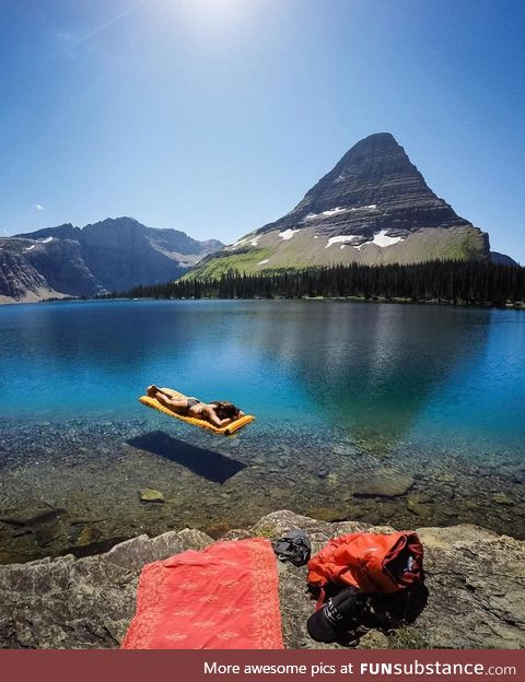 Girl in the glacier national park