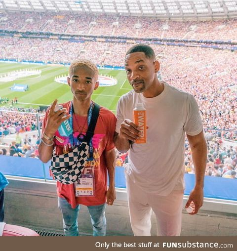 Why is Jaden Smith looking older than his father Will?