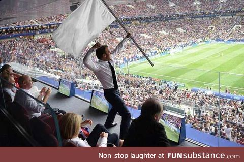 Let the French flag fly