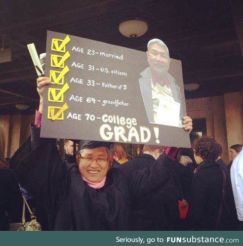 And now he graduated!