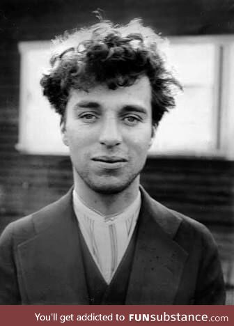 This is Charles Chaplin without his famous makeup