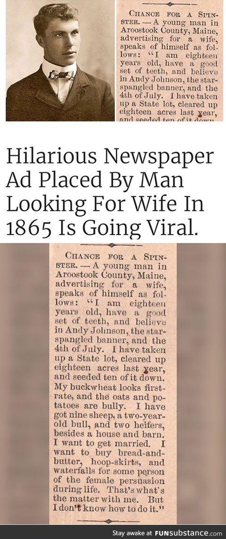 Tinder in 1865