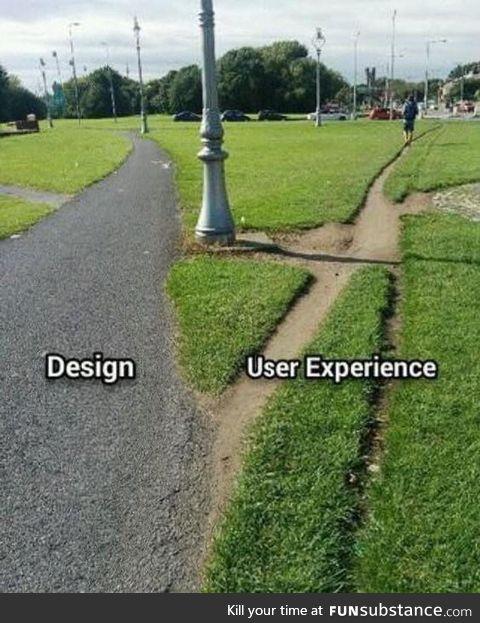 Design vs user experience
