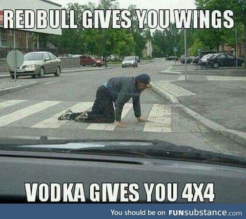 Vodka give you...