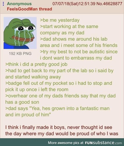 Anons dad is proud