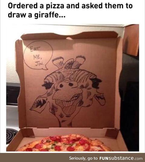It's a giraffe