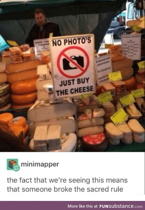 The sacred cheese