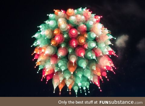 Flaring fireworks
