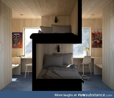 Nice design for a student room with some privacy