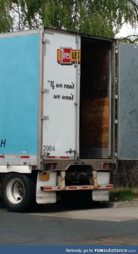 Well, uh... I guess that's a good motto