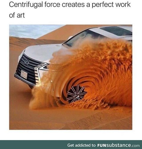 Centrifugal force creates a perfect work of art