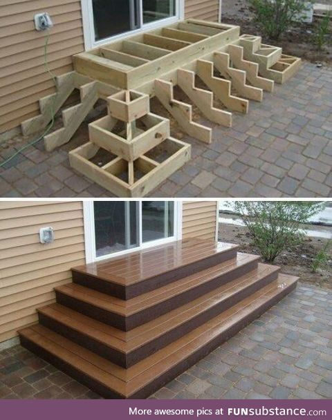 How these type of stairs are made