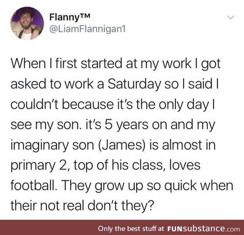 Who else has imaginary children?